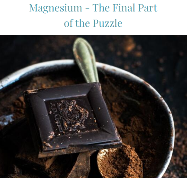 Magnesium - The Final Part of the Puzzle
